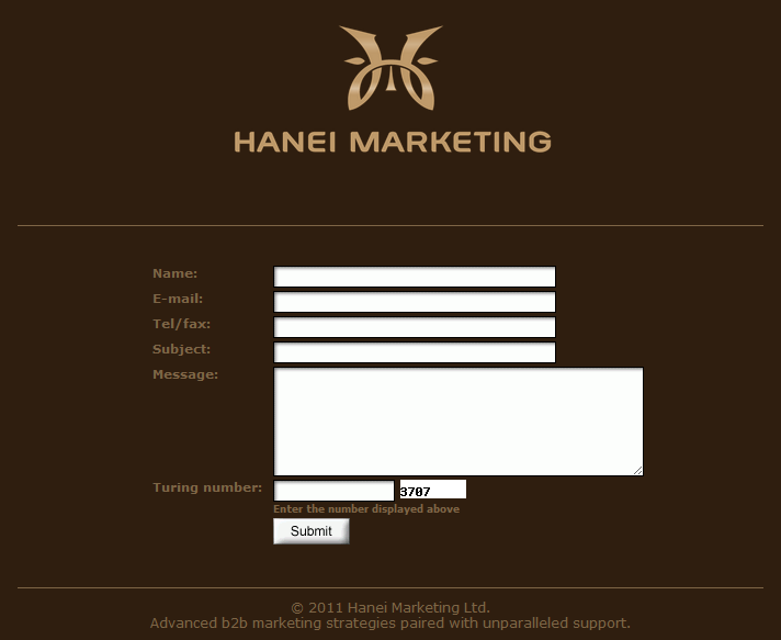 Hanei Marketing Site