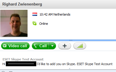 how to find contacts in skype account