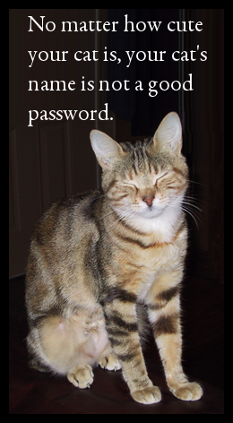 Don't use pet names for passwords