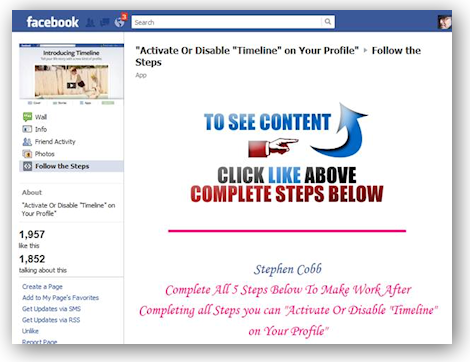 Facebook Timeline remove or disable
