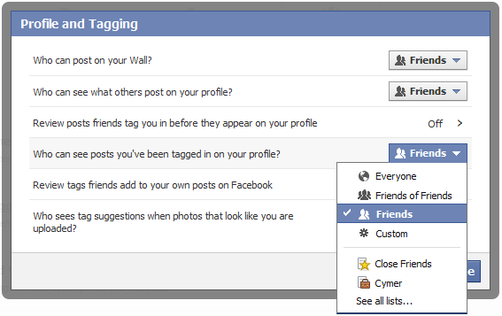 Privacy and Facebook tagging