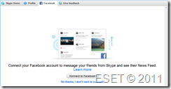 Skype to Facebook Connection