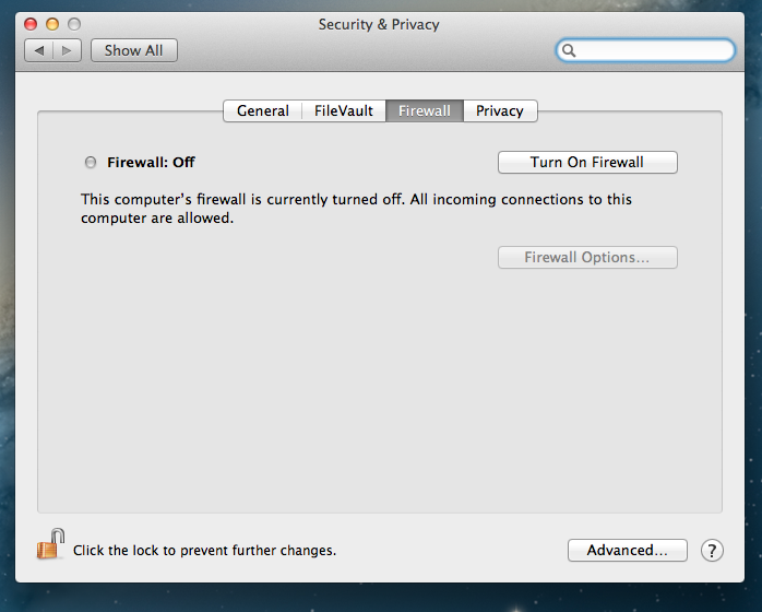 - mac firewall - Part 3 of securing new devices