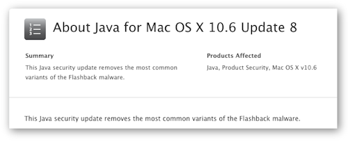 Latest Mac Java update