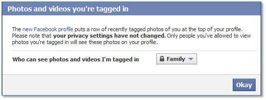 Facebook Photos and videos you're tagged in