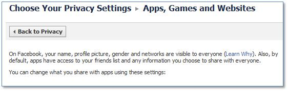 Facebook Apps Games and Websites