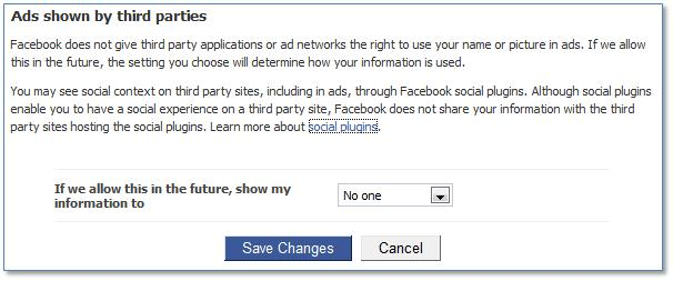 Facebook Ads shown by third parties