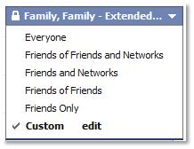Facebook Settings Enumerated