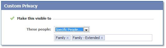 Facebook Customize Granular
