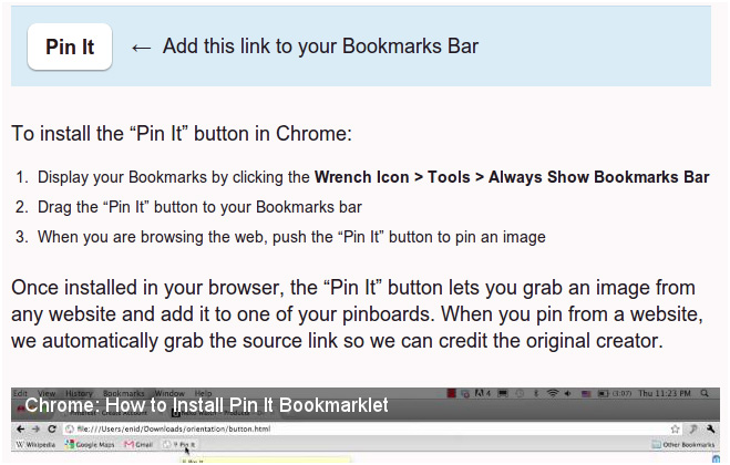 pin to browser