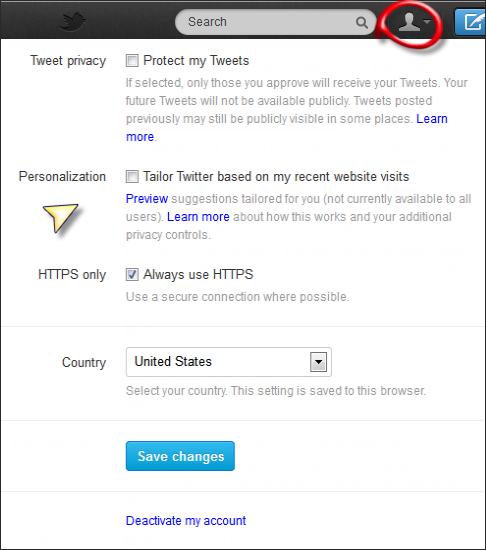 Turn off Twitter eco-tracking