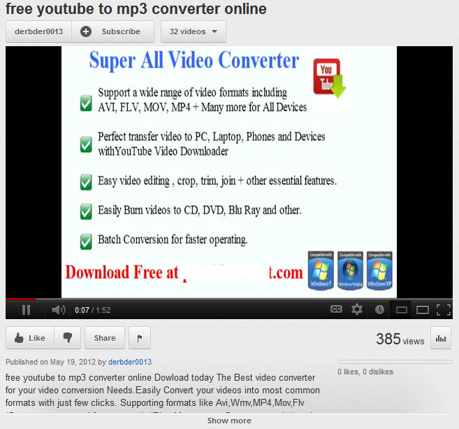 Free YouTube  mp3 converters – with a free malware bonus