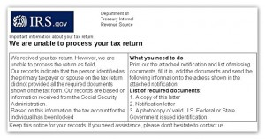 IRS scam mail