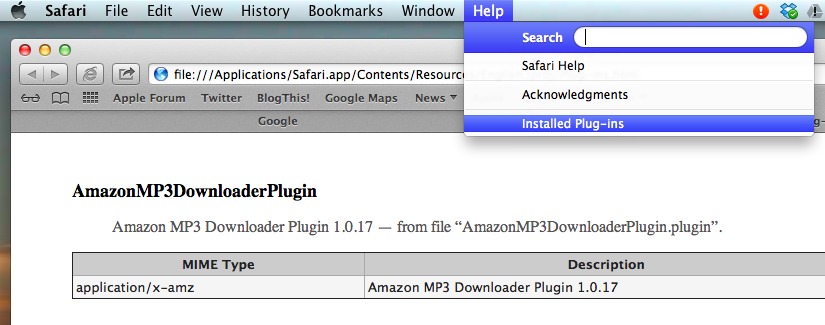 Checking Safari plugins