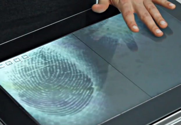 Fiberio is first touchscreen that reads fingerprints as you use it