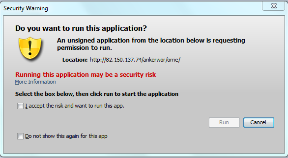 Java Security Warning | WeLiveSecurity