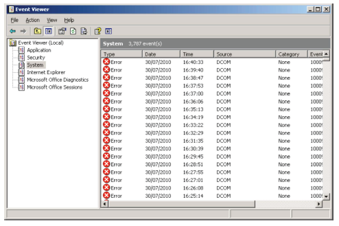 how to clear event viewer