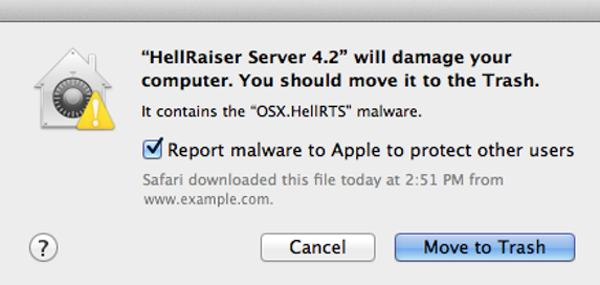 Mac OS X Snow Leopard intercepting some malware