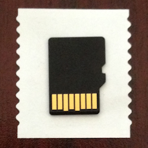 small falsh card  - sd stamp - memory cards can be a data loss and infection vector