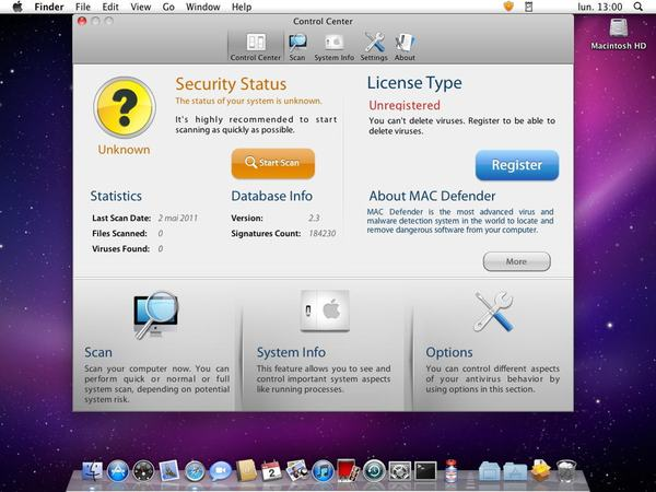 Scareware for the Mac
