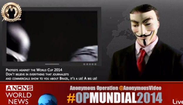 #OpHackingCup: Anonymous ataca sitios del Mundial Brasil 2014