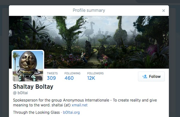 Shaltay Boltay's Twitter account
