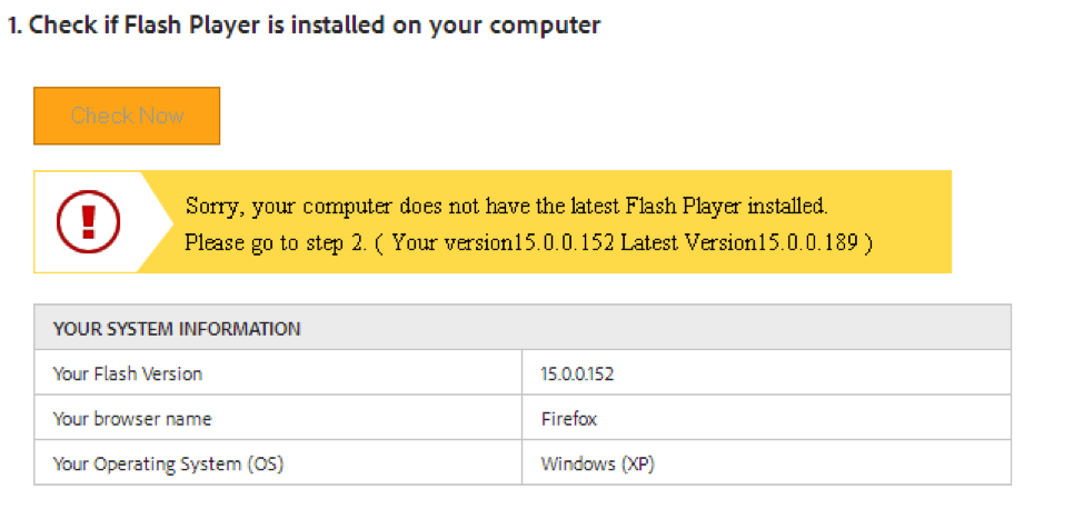 FLASH 2  - FLASH 2 - How to update Adobe Flash Player