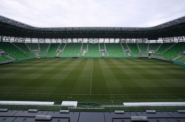 Hungarian soccer fans protest against stadium's new biometric security