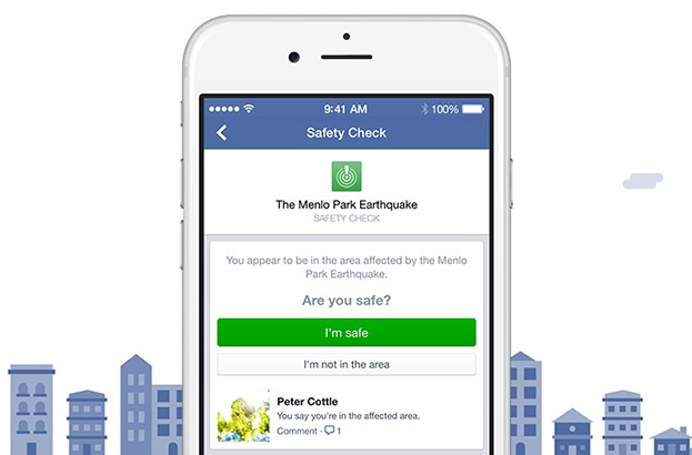 Facebook 'Safety Check' allows travelers to alert family