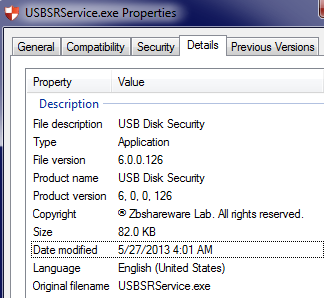 Figure 2 - Win32/USBStealer Dropper Metadata