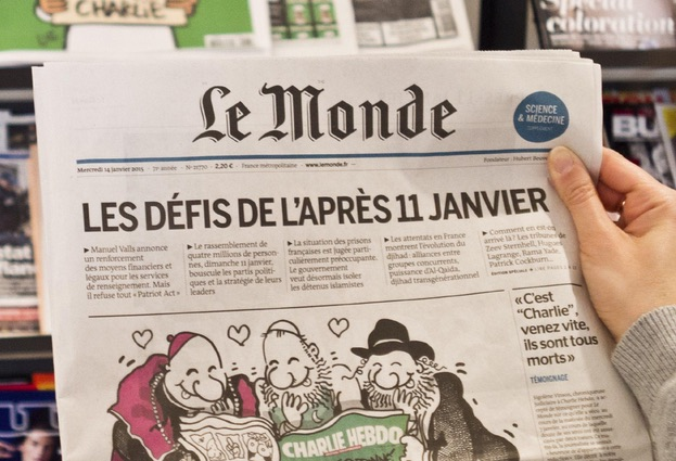 "Le Monde's Twitter account hacked to say ""Je ne suis pas Charlie"""