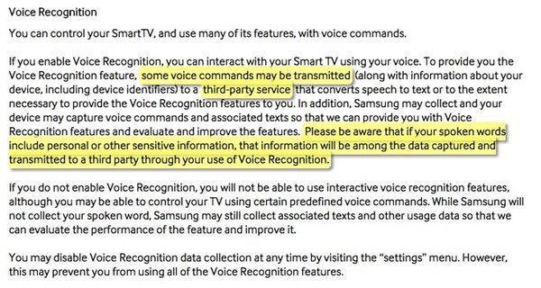 Samsung privacy statement