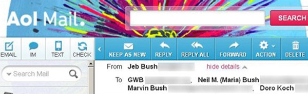 Hacked Bush email account