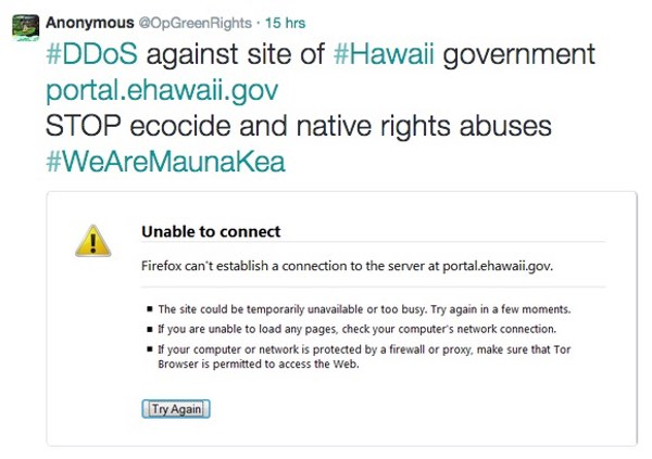 Hawaii government website down
