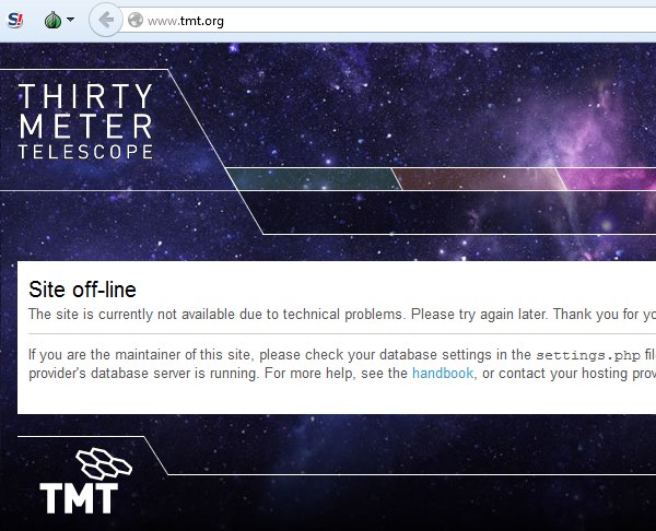 TMT website down