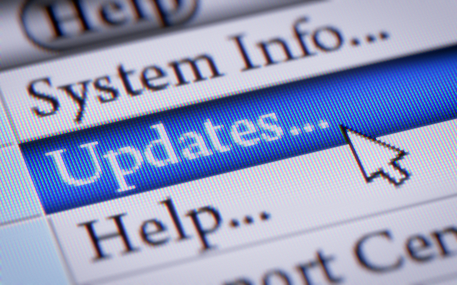 The always-on internet connections mean that it's easier than ever to keep software updated.