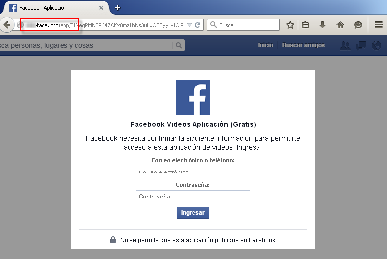 2login falso de FB