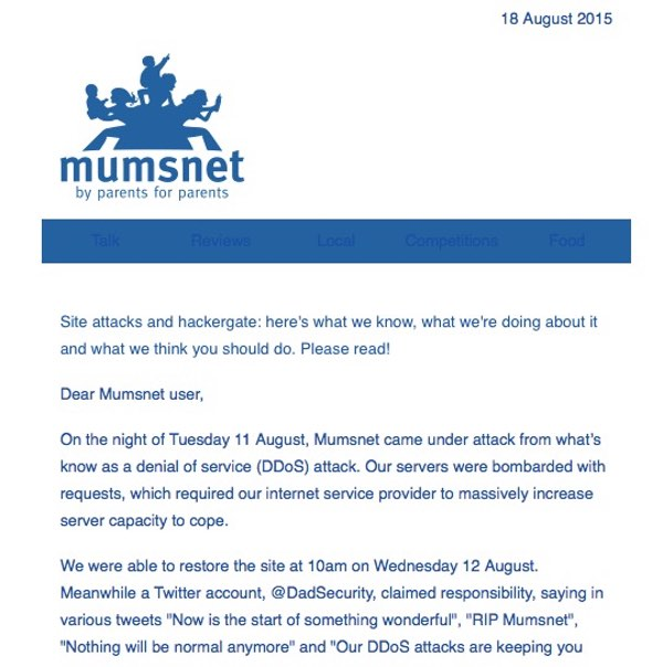 MumsNet email