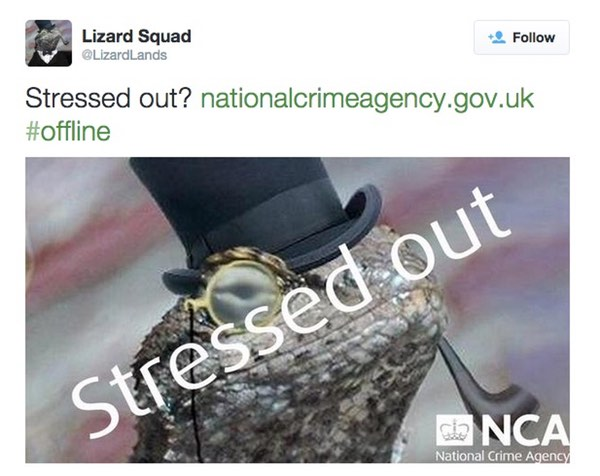 LizardSquad's tweet