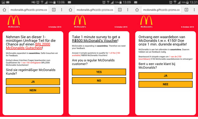 Mcdonalds-languages  - Mcdonalds languages - WhatsApp scam extends into multiple countries and brands