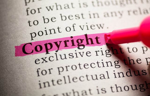 The word copyright highlighted  - Feng Yu - Copyright and social media
