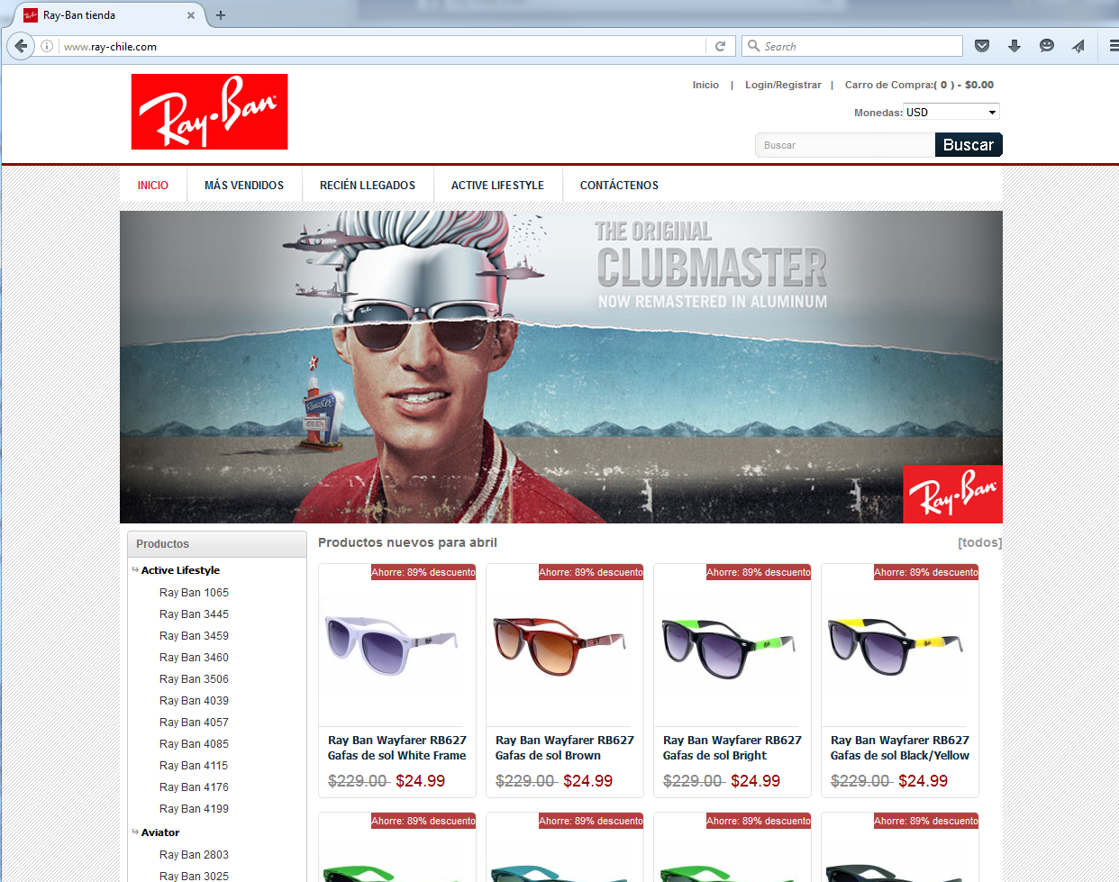 pagina de ray ban official