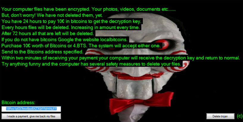 Jigsaw Ransomware 2 0 A Fake Or Work In Progress