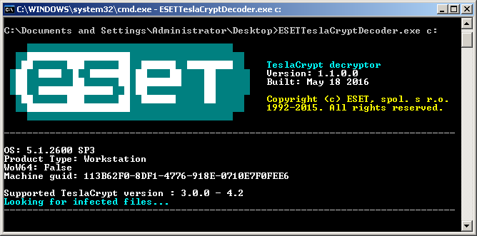 ESET releases new decryptor for TeslaCrypt ransomware   WeLiveSecurity