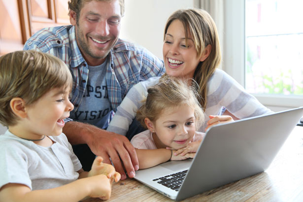 - goodluz - Online safety for families across the years