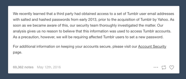 May 12 statement from Tumblr