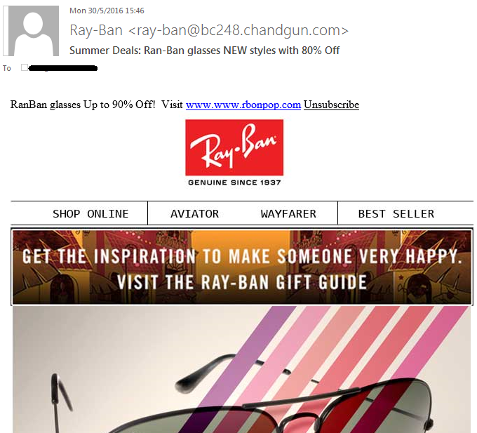 estafa-ray-ban-mail