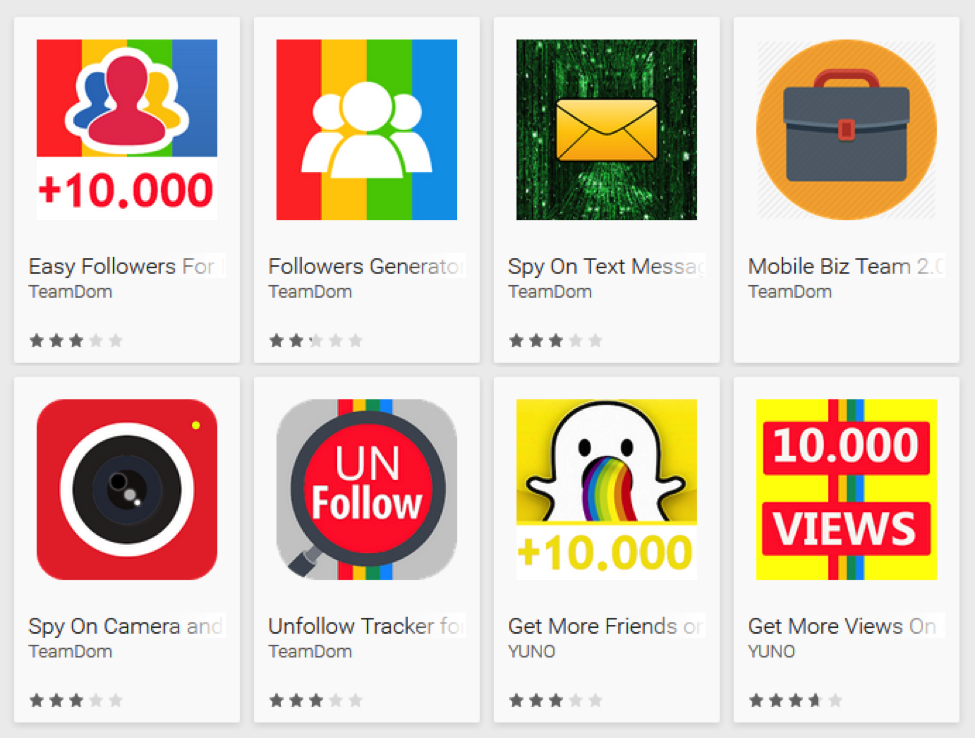 fake apps on Google Play