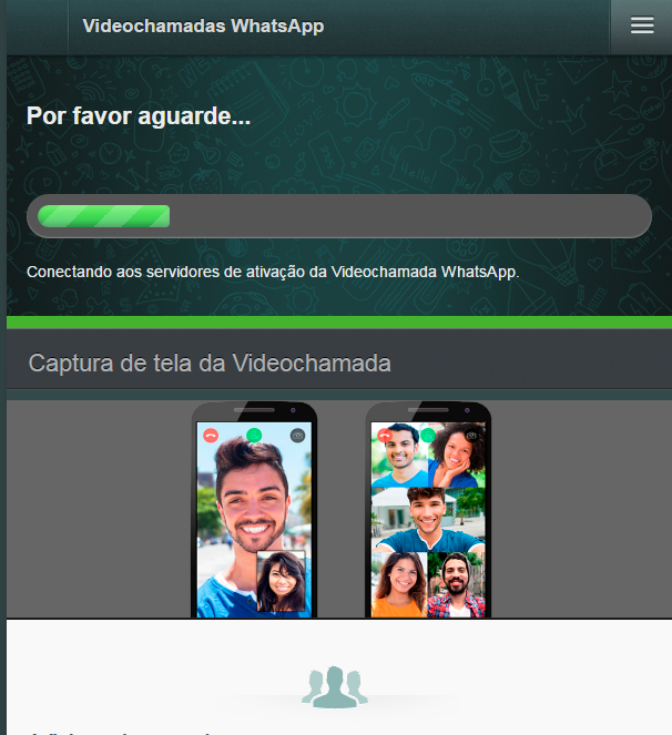 Videochamadas no WhatsApp