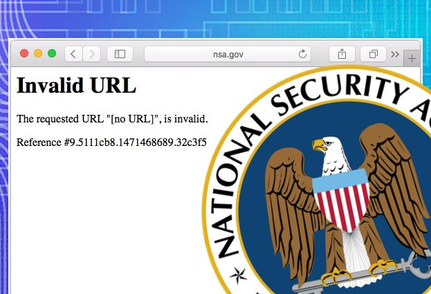 NSA website goes down as hackers auction stolen 'cyber weapons'